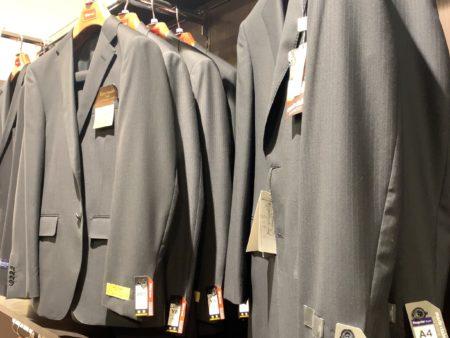 イオンのスーツに大きいサイズ
